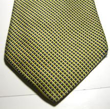BROOKS BROTHERS Basics Gold Navy Blue Mini Plaid Tie 100% Silk - $29.99