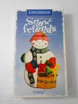 Longaberger Pottery Chilly Snow Friends Cookie ... - $20.09