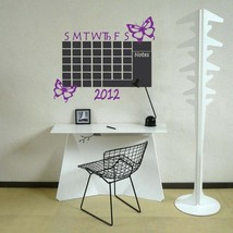 Chalkboard Monthly Office 2015 Calendar Butterflies Vinyl Wall Sticker - $45.00