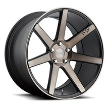 """19"""" Niche Verona M150 19x8.5 Front and 19x8.5 Rear Black & Machined with... - $995.00"""