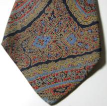 Brooks Brothers Makers Brown Blue Paisley Vintage Tie 100% Silk Rare - $29.99