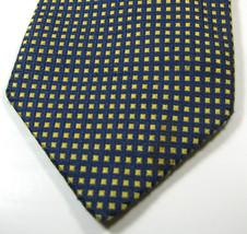 BROOKS BROTHERS Gold Navy Mini Geometric 100%  Pure Silk Tie - $29.99