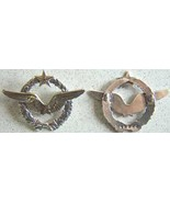WWI 1916 French Licensed Pilot Wings Sterling w Gold       - $65.00