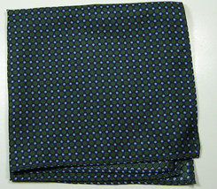 Classic Navy Green Circles Polka Pocket Square Handkerchief Pochette Sil... - $99.99