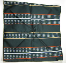 Classic Rich Green with Orange Beige  Pocket Square Handkerchief Pochett... - $99.99
