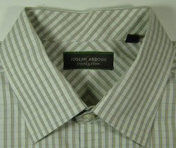 JOSEPH ABBOUD Lg Beige  Cream Checks Gingham Dress Shirt Excellent - €50,41 EUR
