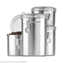 Kitchen Canisters Pieces Stainless Close Storage Pantry Sealed Store Oxy... - $38.20