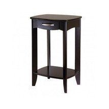 End Tables Office Furniture Espresso Solid Shelf Unique Tall Drawer Wood... - $165.51