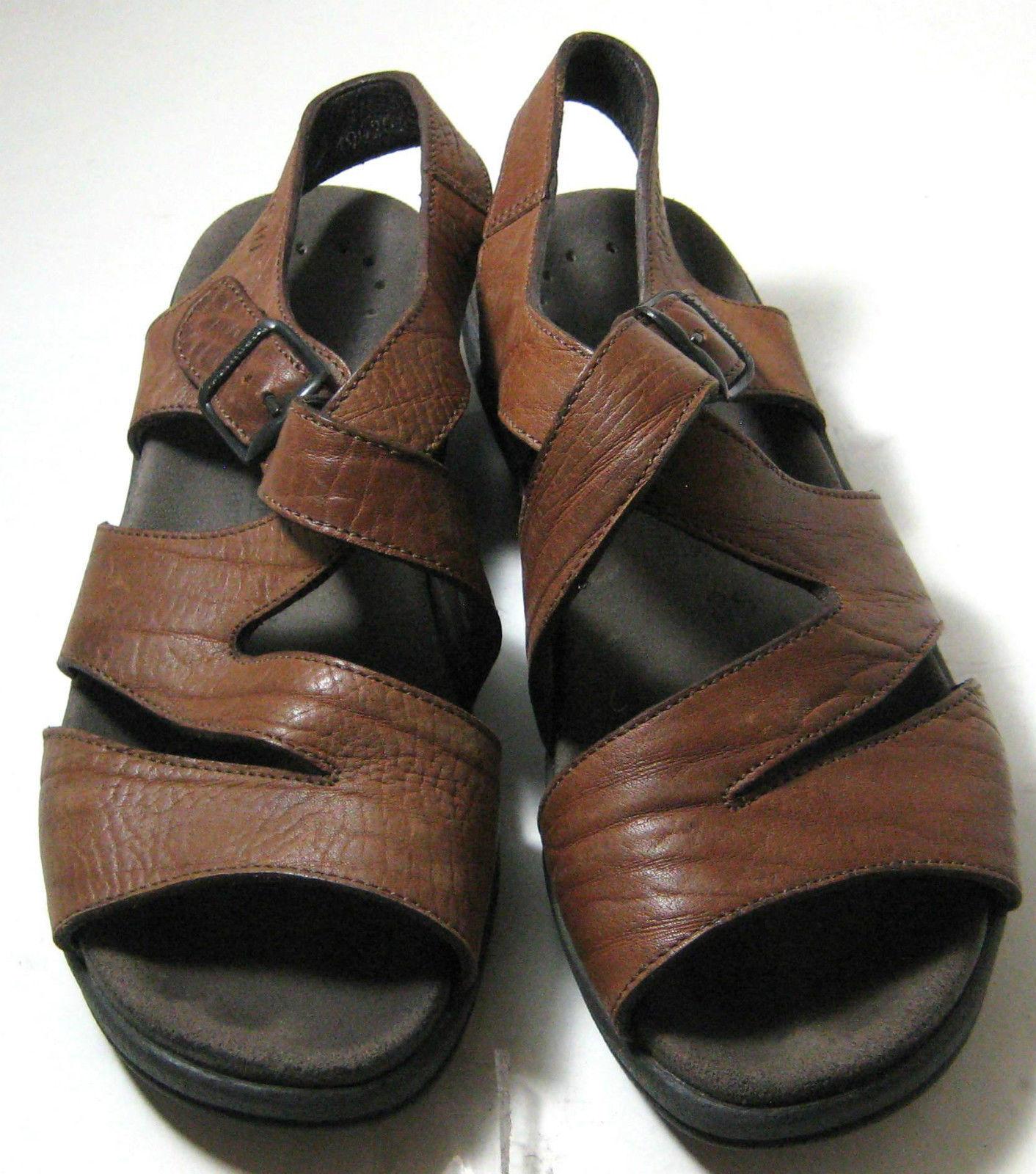 "MEPHISTO Eu 36 US 6 Brown Tan Sandals ""4X Shock Absorber"""