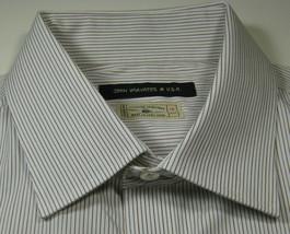 JOHN VARVATOS 16 Reg Rich Brown Stripe French Cuff Dress Shirt RARE - $19.99