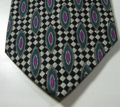 ROBERT TALBOTT Best of Class Checker Green Purple Geometric Tie RARE  10... - $99.99