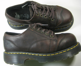 DR. MARTENS 7 Strong Brown Oxfords  Shoes England Rare Strong - $87.31