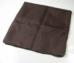 ULTRA RARE Rich Dark Green Burgundy Stripe Silk Pocket Square Handkerchief - $69.99