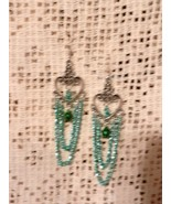 NeW Gypsy Bellydance Hearts Chain Dangle Hook Earrings Many Colors To Ch... - $5.99