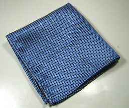 CRAFT & BARROW Rich Metallic Blue Plaid Blocks Pocket Square Handkerchief - $19.99