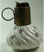 EVANS Vtg QUARTER Perfume Bottle Shape  Flowers Ornate Swirl LIGHTER Cla... - $88.19
