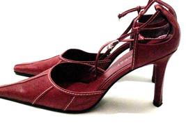 Nine West Red Pump Stitching Strap  8 1/2 M Heels RARE - €43,96 EUR