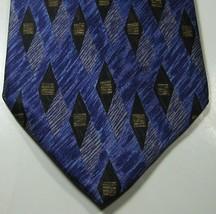 ERMENGENLIDO ZEGNA Rich Purple with Black Brown Diamonds RARE 100% Silk Tie - $29.99