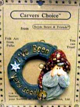 "Boyds Carvers Choice ""Santa.. In the Nick of time"" Resin FolkArt Pin~#370500-New - $9.99"