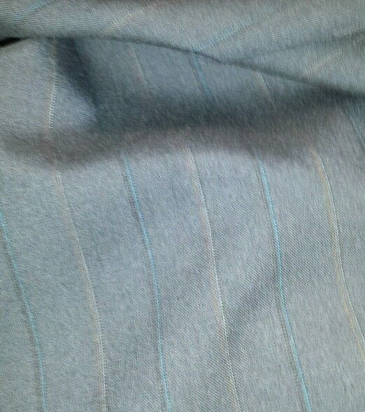 Super 130'S Italian Wool Suit fabric    Blue Red Stripes 5 Yard - MSRP 900