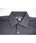 DKNY Sz. 14 Black Pink Purple Boys Dress Shirt Excellent Condition - $99.99