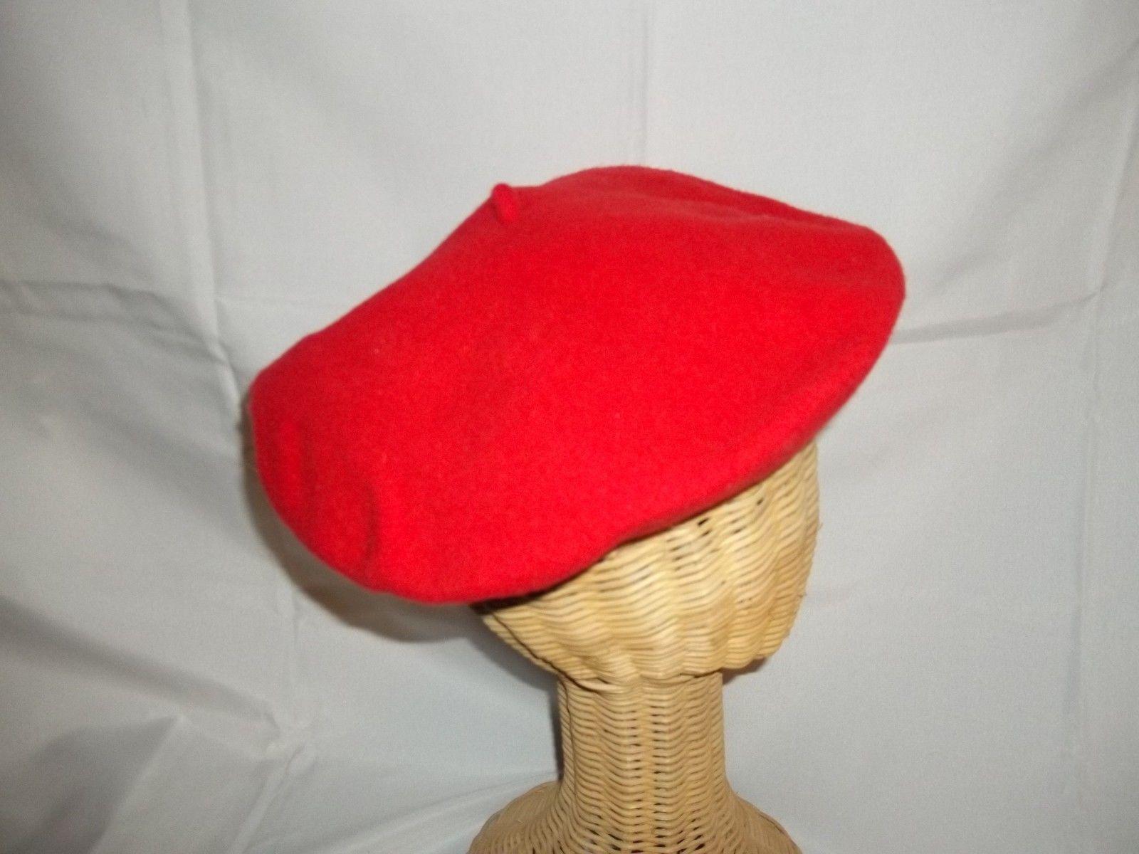 5875021de401f Vintage David Red Felt Wool Beret Hat Cap and 50 similar items. 57
