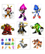 9 Sonic The Hedgehog Stickers, Party Supplies, Favors, Gifts, Labels, Bi... - $8.99