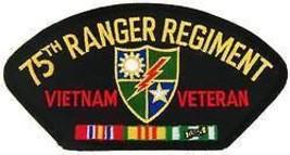 ARMY 75TH RANGER REGIMENT  VIETNAM VETERAN  RIBBON EMBROIDERED MILITARY ... - $13.53