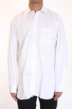 15 x 35 NWT Robert Talbott Mens White Textured Button Front Cotton Dress... - €105,04 EUR