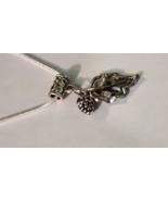 Leaf Tibetan Silver Charm Fit European Chain Br... - $5.99