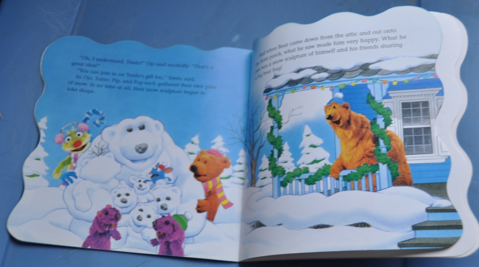 jim henson bear in the big blue house merry christmas bear w 48 stickers - Bear Inthe Big Blue House Christmas