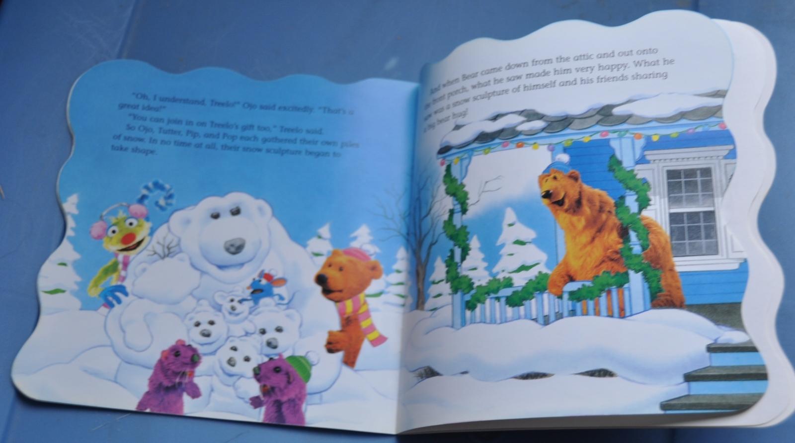jim henson bear in the big blue house merry christmas bear w 48 stickers - Bear Inthe Big Blue House A Berry Bear Christmas