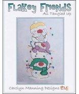 Flakey Friends All Tangled Up snowman cross stitch chart CM Designs - $8.10
