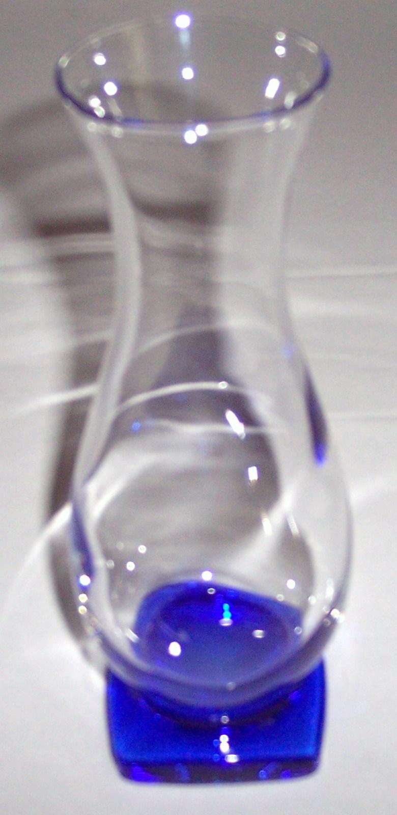 Bormioli Rocco Gorgeous Cobalt Blue Square Base Glass Vase