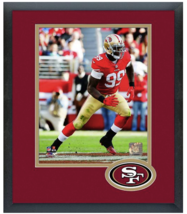 Aldon Smith 2014 San Francisco 49ers - 11 x 14 Team Logo Matted/Framed Photo - $43.55