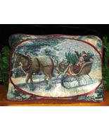 THOMAS KINKADE CHRISTMAS TAPESTRY PILLOW - EXCE... - $30.00