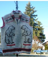 North AMERICAN Indian riding horse End of Trail VEST hand knitted 60's W... - $350.00