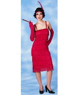 Roaring 20's Flapper Fringed Red Dress Fancy Dress Costume Red Fringe Dress - $59.99