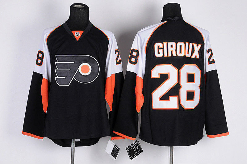 Number 28 Claude Giroux Jerseys Philadelphia Flyers black t shirts for sale  USA
