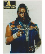 A Team Mr T MM Vintage 11X14 Color TV Memorabilia Photo - $13.95