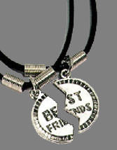BFF BEST FRIENDS NECKLACE SET-Retro Gift Fun Charm Funky Jewelry - $8.97