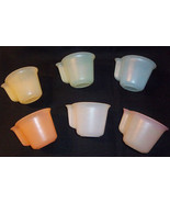 Vintage Set of 6 Tupper Millionaire Line Pastel Cups Mugs Stacking Tuppe... - $19.79