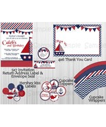 Nautical Boy Birthday Party Package: Decorations, Printable, Personalized - $20.00