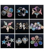 Colorful Starfish Conch Fish Pearl Pendant Charm Beads Jewelry Crafts De... - $1.88+
