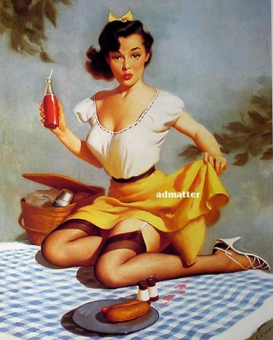 Harry Ekman Pin-up girl poster  Sexy Picnic!