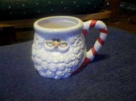 Hand Painted Ceramic Santa Mug Cup Red and White - $8.55