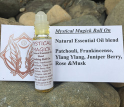 Mystical Magick Roll On, Natural Essential Oil blend, Patchouli, Frankin... - $11.95