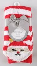 Charter Club Womens Super Soft Red Stripe Santa Fuzzy Butter Socks Size 9-11 NEW