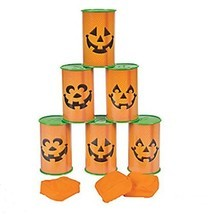 Jack O Lantern Pumpkin Can toss game - Halloween Party Game - €21,79 EUR