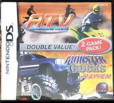 ATV: Thunder Ridge Riders/Monster Trucks Mayhem (Nintendo DS, 2007) Comp... - $8.91